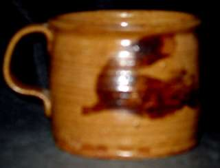 Marked Wayne Branum Mingei Pottery Coffee Cup Warren Mackenzie