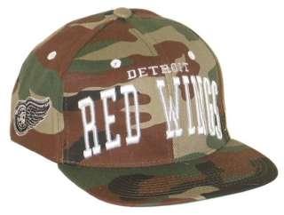 WINGS NHL HOCKEY VINTAGE CAMO SUPER STAR SNAPBACK HAT/CAP NEW