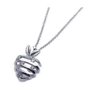 Nickel Free Silver Necklaces Strips Heart Cz Necklace Jewelry