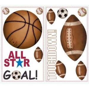 Soccer   Football   Basketball   Self stick Wall Stickers Home