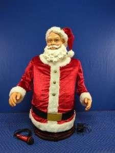 Gemmy Industries Antimated 5 Singing & Dancing Santa Claus Karaoke