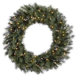 4 ft. Christmas Wreath   High Definition PE/PVC Needles