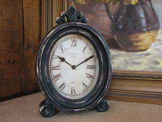 Shabby Cottage Chic French Clock Home Decor