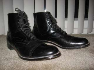 STACY ADAMS MADISON mens dress boots shoes sz 12 D leather black
