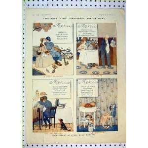 French Colour Print Man Woman Romance Dinner Hotel Home & Kitchen