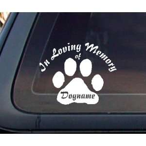 Custom In Loving Memory Dog Cat Car Decal / Sticker: Automotive