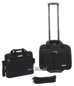 ROCKLAND 3 PC SET CARRY ON ROLLING COMPUTER CASE $130
