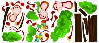 Jungle Monkeys boys Kids Nursery Wall Sticker Decals