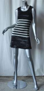CHANEL BOUTIQUE Black+White Mod*COLLECTIBLE*Dress 38