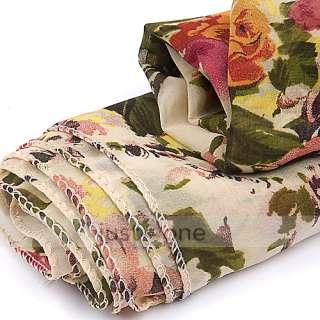 Charm Chic Womens Ladies Girls Flower Print Soft Chiffon Wrap Scarf