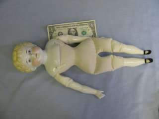 16 ½ Antique ABG BLONDE CHINA CHILD c1880 Kinderkopf Perfect Head