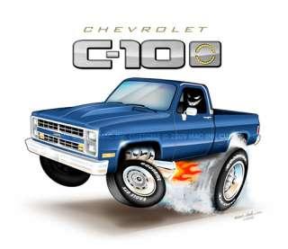 81 87 Chevy C 10 Silverado Truck EMBLEM T Shirt 85 86