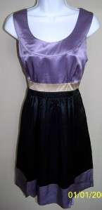 NWT Kensie Pretty Silk Purple Black Party Dress XL $88