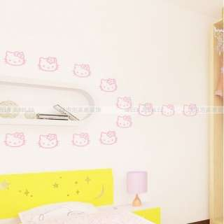 New HELLO KITTY head Wall Mural Stickers Decor Decals Childern wall