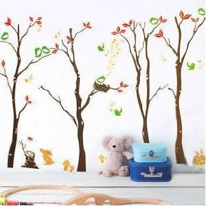 Tree Forest Wall Decal Sticker Home Decor   Easy Wall