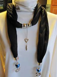 Fashion Jewelry Pendant Hearts Neck Scarf Wrinkle Cotton NEW Color