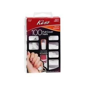 Kiss Full Cover Nails Kit, Short Square   100 / Pack, 2