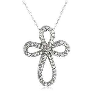 Gold Diamond Cross Pendant (1/5 cttw, I J Color, I3 Clarity) Jewelry