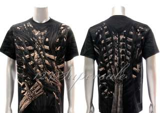 XXXL Rock Eagle T shirt Special Tattoo Skull Death Angel Skeleton Men