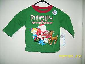 CHRISTMAS LONG SLEEVE ROUDOLPH ISLAND MISFIT TOYS BABY INFANT CHILD T