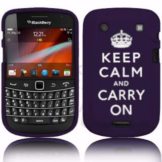 London Magic Store   KEEP CALM & CARRY ON Silicone Case For Blackberry