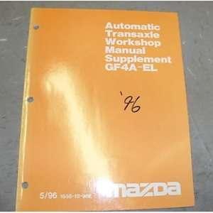 1996 Mazda GF4A EL Transmission Service Repair Manual mazda Books