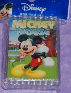 Disney Mickey Mouse Playing Poker Cards   VERY NICE