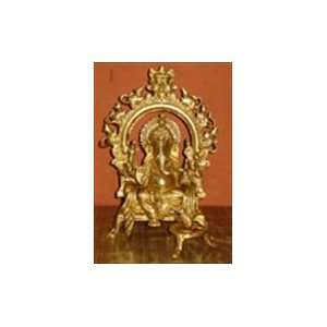 Lord Ganesha Metal Brass Statue: Home & Kitchen