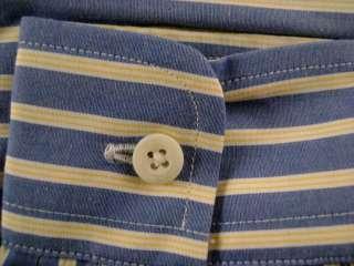 Talbots Kids Boy NEW Blue White Yellow Striped Dress Shirt Long Sleeve