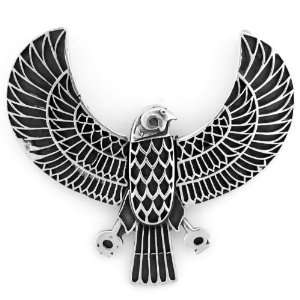 Egyptian Jewelry Silver Falcon Horus Pendant Jewelry