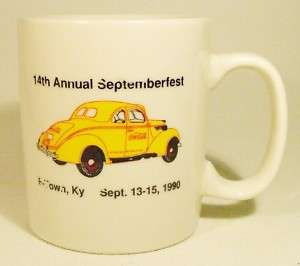 Coca Cola Coffee Tea Cup Mug Septemberfest 1990 Coke