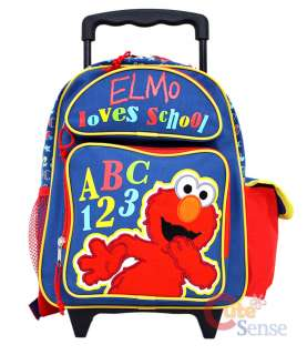 Sesame Street Elmo ABC School Roller Backpack/Bag  12in Medium