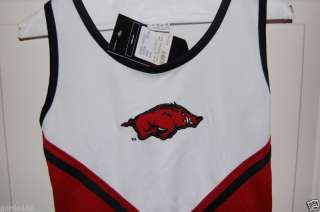 Arkansas Razorbacks Hogs Cheerleader Uniform LG14 NEW
