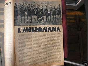FOTO AMBROSIANA INTER 1932 SU SETTIMANA DEL POPOLO
