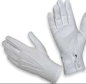 White Parade Dress Uniform Color Guard Marching Gloves