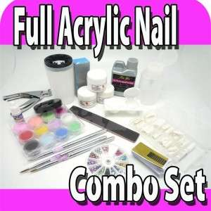 COMPLETE ACRYLIC LIQUID NAIL ART KIT DECO COMBO SET L10