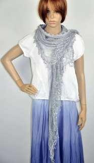 Gentle Cotton Elegant Net Lace Womens Dress Party Scarf Shawl Wrap