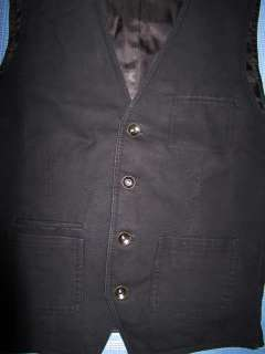 New EXPRESS 4 Button Cotton Canvas Vest, S, nwt, $80 (Casual, Sweater
