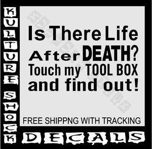 MECHANIC, TOOL BOX, TOOLS, DECAL, CRAFTSMAN, TOOLS, DIESEL, GAS, LADTB