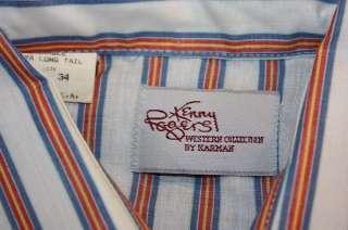 vtg YOKE COLLAR western pearl snap shirt * cowboy KENNY ROGERS