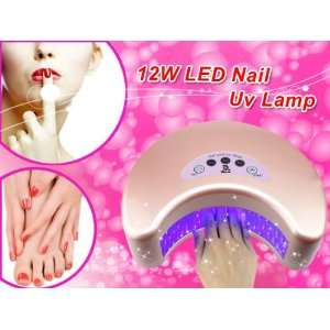 USpicy 2012 Brand New Pink Top 12W LED Nail Light / Lamp / Dryer (30