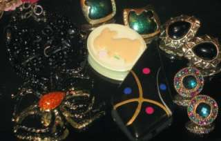 VTG ESTATE HUGE JEWELRY BOX LOT JAPAN NAPIER LOCKET LADY CAMEO