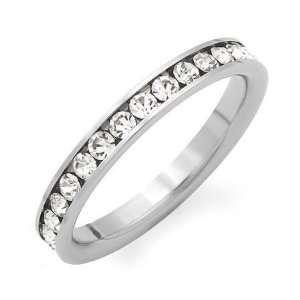 1/2 CT Diamond Wedding Band 14K White Gold (I1 I2 Clarity