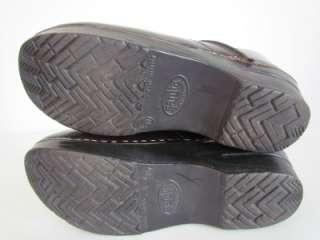 Womens Dansko Sanita Cordovan Leather Professional Clogs Shoes Size 38