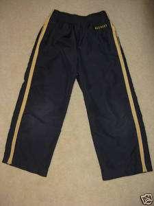 Boys OLD NAVY Black W/Yellow Stripe Nylon Pants, 6 GUC