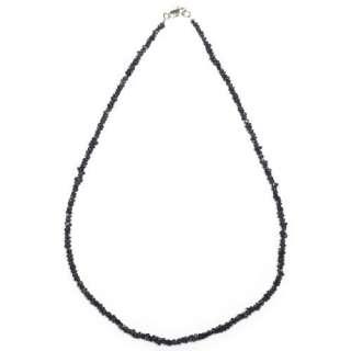 14k Yellow Gold Black Diamond Chip Necklace, 17