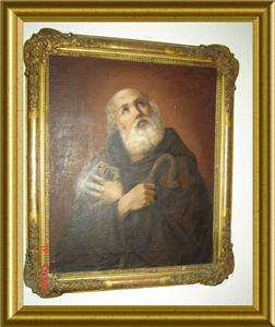 ANTIQUE ITALIAN RARE CIRCA 1820 SAINT PAUL PORTRAIT OIL PAINTING