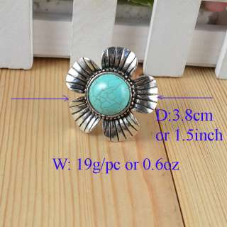 Sets Tibet Silver Turquoise Necklace Bracelet Ring s003