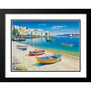 Adriano Galasso Framed and Double Matted Art 33x41 Baia