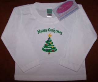 Merry Christmas & Bright Colorful Holiday Tree Long Sleeve Baby or